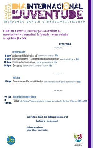 Convite Comemoração do Dia Internacional da Juventude
