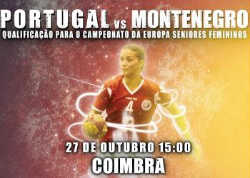 Cartaz Portugal : Montenegro - Seniores Femininos - 27.10.13