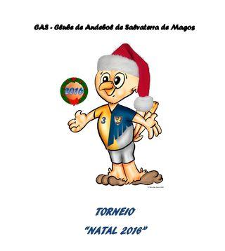 Logo Torneio Natal 2016 - Clube de Andebol de Salvaterra de Magos