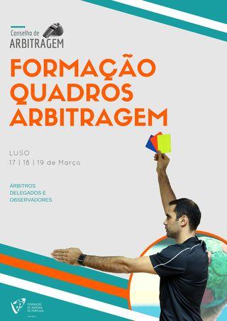 Cartaz Formação Quadros Arbitragem - Luso