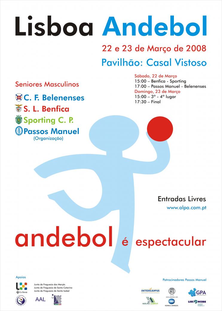 Cartaz Torneio Lisboa Andebol