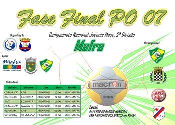 Cartaz Fase Final CN Juvenis Masculinos 2ª Divisão