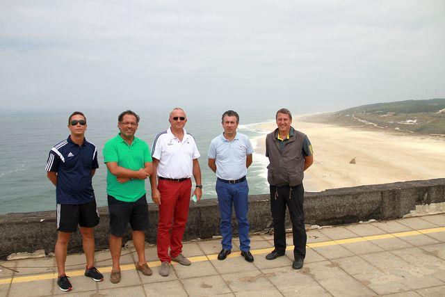 Reunião na Nazaré - Campeonato da Europa de Andebol de Praia 2016 - 11.08.2015
