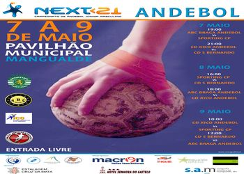 Cartaz 2ª Fase Grupo A Zona 2 do Next<21 - Campeonato Nacional 1ª Divisão Juniores masculinos - Mangualde, 07 a 09.05.10