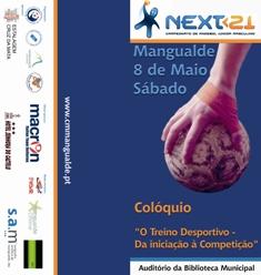 """Cartaz Colóquio """"O Treino Desportivo - Da Iniciação à Competição"""" - 08.05.10, Mangualde"""