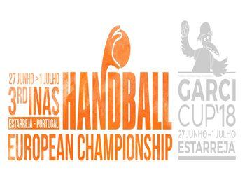 Logo Campeonato da Europa de Andebol INAS - Estarreja 2018