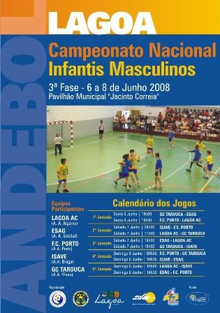 Cartaz 3ª Fase Campeonato Nacional Infantis Masculinos - Lagoa