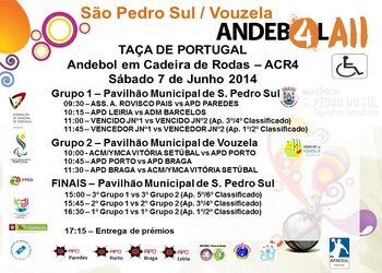 Cartaz Taça de Portugal de Andebol em Cadeira de Rodas