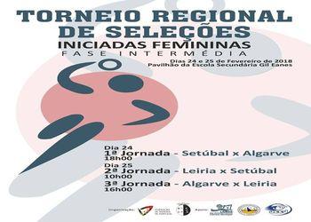 Cartaz Fase Intermédia do Torneio de Seleções Regionais Iniciados Femininos - Zona 2
