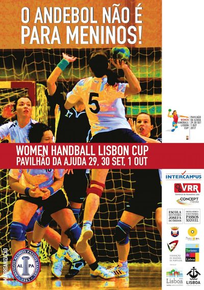 Cartaz Torneio Internacional Women Handball Lisbon Cup