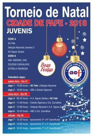 Cartaz do Torneio de Natal Cidade de Fafe 2018
