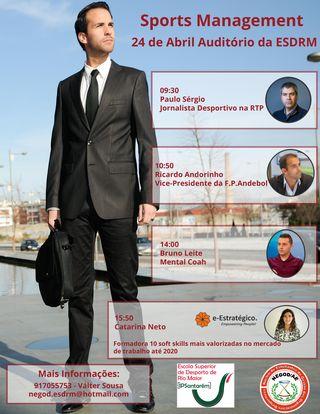 Cartaz Sports Management - ESDRM
