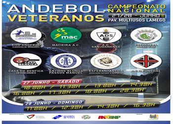 Cartaz fase final Campeonato Nacional Veteranos Masculinos 2014-2015