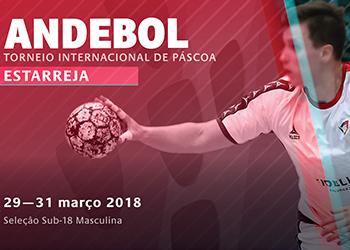 Cartaz Torneio Internacional da Páscoa Sub18 Masculinos - Estarreja