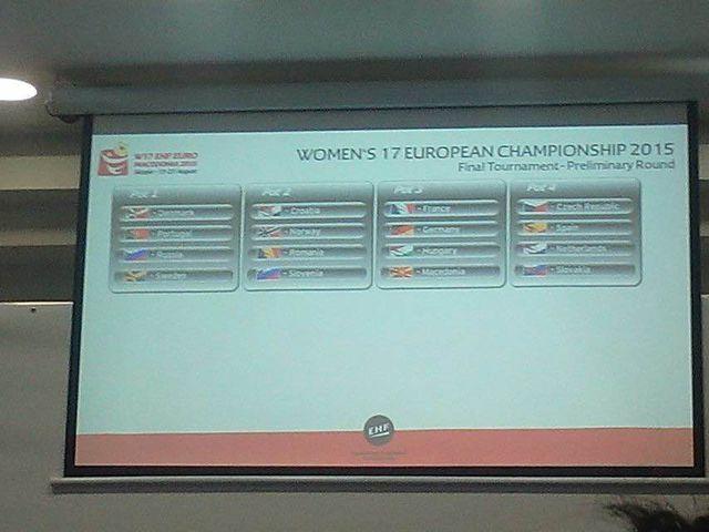sorteio Campeonato da Europa Sub17 Femininos Macedónia 2015