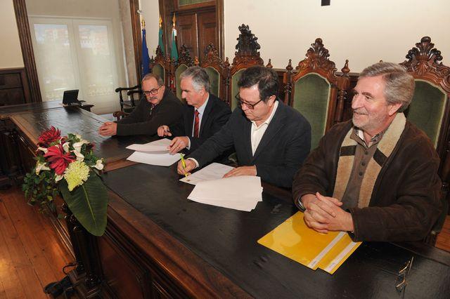 Assinatura do protocolo de organização do Portugal – Áustria