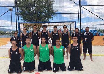 Sub17 Masculinos - 7º lugar no Europeu Andebol Praia