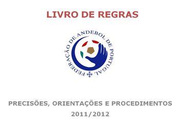 Imagem Livro de Regras - Precisões, Orientações e Procedimentos - Época 2011/ 2012