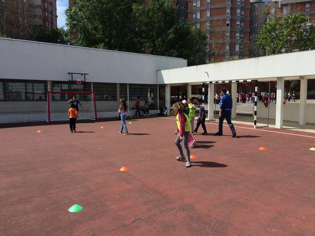 Andebol na Escola Básica Manuel Teixeira Gomes - Programa Educação Olímpica