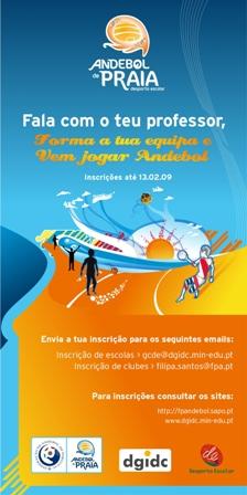 Flyer Andebol de Praia - Desporto Escolar