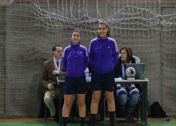 Sara Pinto e Flávia Santos - àrbitras