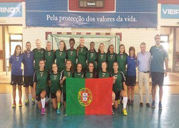 Juniores B femininas receberam a visita do Presidente Ulisses Pereira