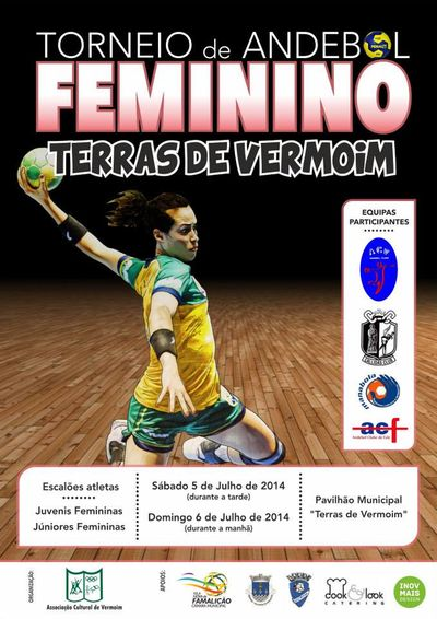 Cartaz Torneio de Andebol feminino - Terras de Vermoim