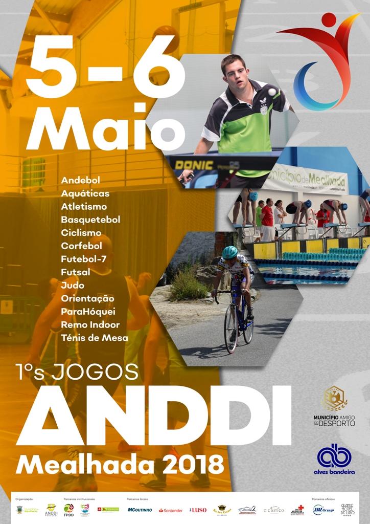 Cartaz - 1ºs Jogos ANDDI Portugal - Mealhada 2018