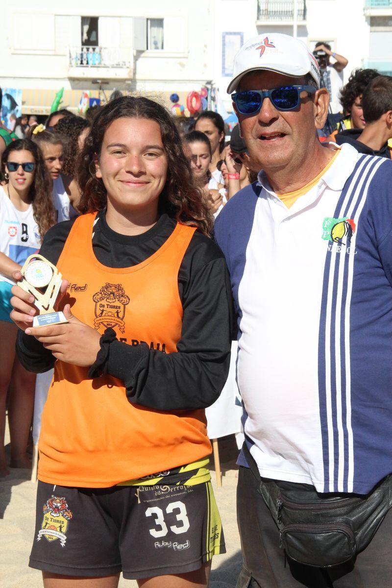 Melhor Guarda Redes Rookies Femininos - Sara Silva - EFE Os Tigres - Fase Final Circuito Nacional de Andebol de Praia 2016 - foto: Luís Neves