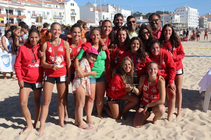 2º lugar Rookies Femininos - ZAAS - Fase Final Circuito Nacional de Andebol de Praia 2016 - foto: Luís Neves