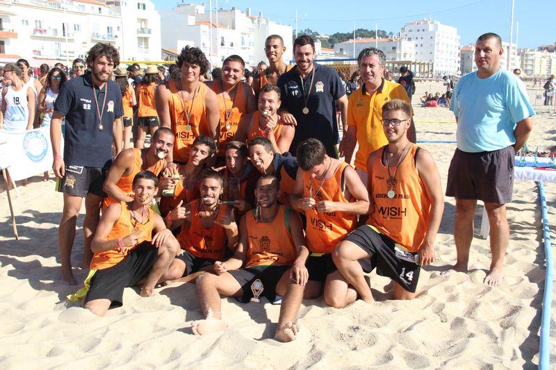 1º lugar Rookies Masculinos - EFE Os Tigres - Fase Final Circuito Nacional de Andebol de Praia 2016 - foto: Luís Neves