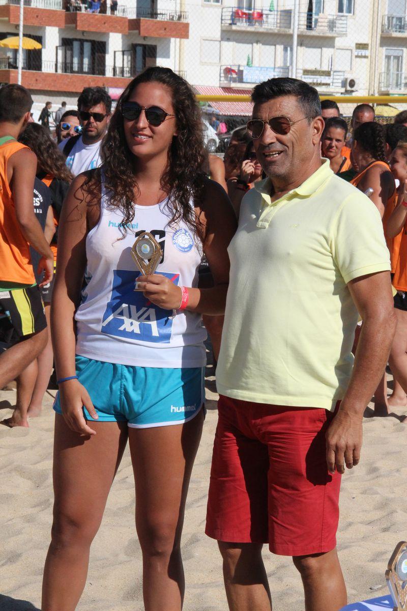 Melhor Guarda Redes Masters Femininas - Jessica Ferreira (2Much4You) - Fase Final Circuito Nacional de Andebol de Praia 2016 - foto: Luís Neves