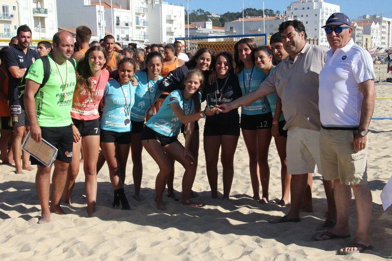 3º lugar Rookies Femininos - As Caloiras - Fase Final Circuito Nacional de Andebol de Praia 2016 - foto: Luís Neves