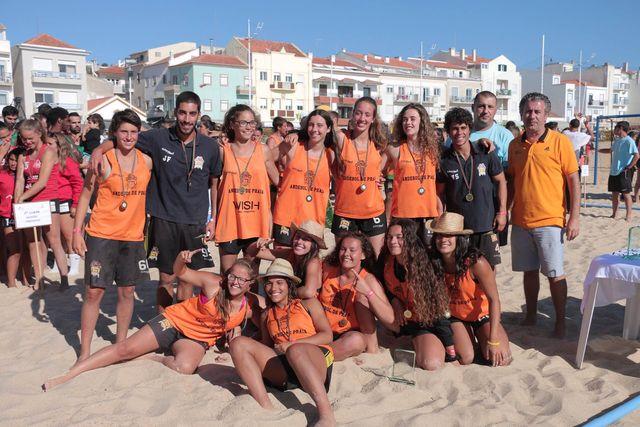 EFE Os Tigres - campeões nacionais de Andebol de Praia 2016 - Rookies Femininos - foto: Márcio Menino