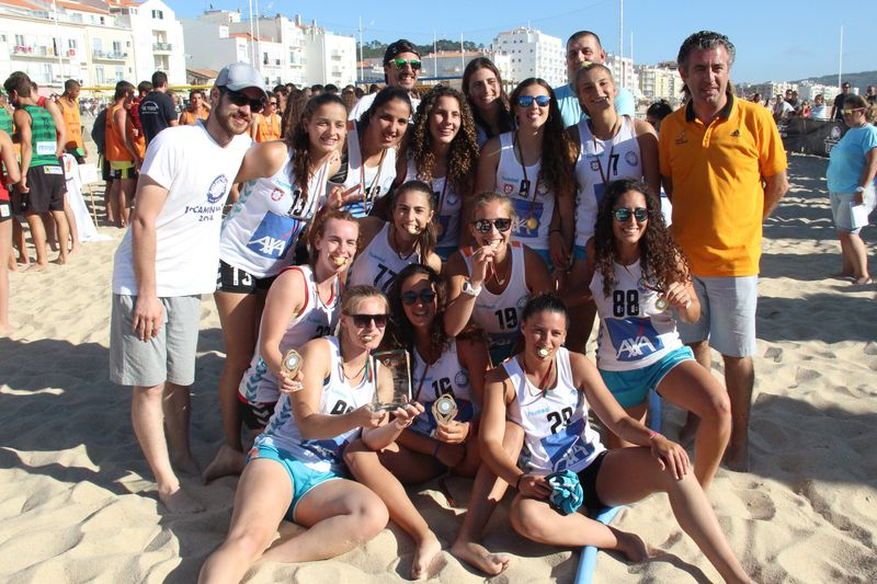 1º lugar Masters Femininos - 2Much4You - Fase Final Circuito Nacional de Andebol de Praia 2016 - foto: Luís Neves
