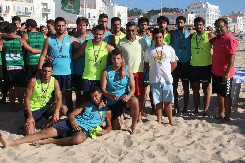 2º lugar Masters Masculinos - Os  Gordos/LabMinho - CN Leça - Fase Final Circuito Nacional de Andebol de Praia 2016 - foto: Luís Neves