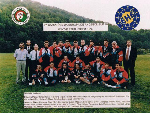 Portugal campeão europeu Juniores Masculinos em 1992