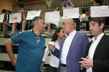Presidente da Câmara Santo Tirso  visita ao treino 1
