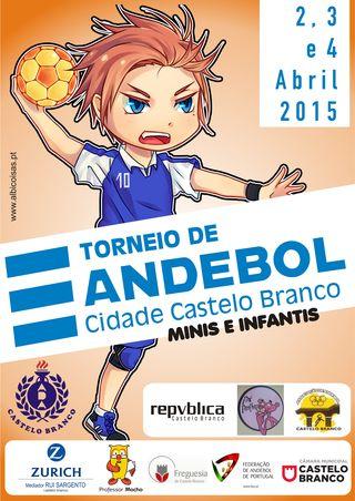 Cartaz III Torneio de Andebol Cidade de Castelo Branco - Páscoa 2015