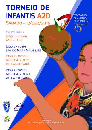 Cartaz Torneio de Infantis Femininos da AA Didáxis/A2D