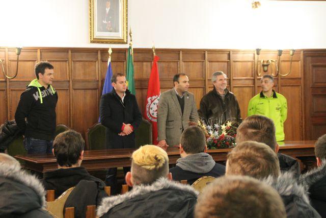 Selecções nacionais de Espanha e da Alemanha na recepção na Câmara Municipal de Figueira de Castelo Rodrigo