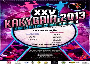 Cartaz XXV Torneio Internacional Andebol Kakygaia 2013