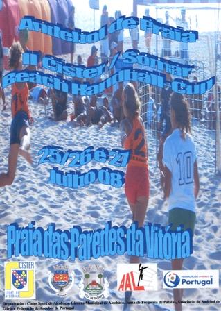 Cartaz 4ª Etapa Andebol Praia - Circuito Regional A.A. Leiria