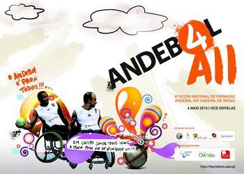 Cartaz 6ª Acção Nacional de Formação de Andebol em Cadeira de Rodas - Odivelas, 06.05.10