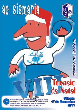 Cartaz VIII Torneio de Natal de Andebol do Atlético Clube Sismaria
