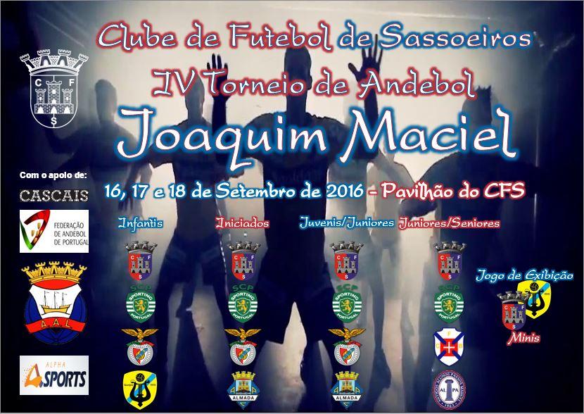 Cartaz do Torneio de Andebol Joaquim Maciel