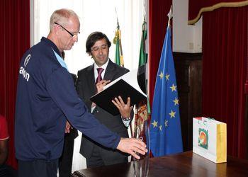 Recepção da Selecção Nacional A masculina na CM Espinho - 06.06.2011