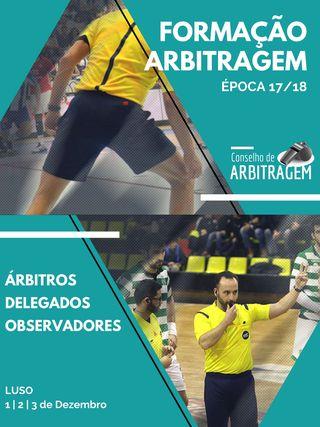 Cartaz Formação de Arbitragem - Árbitros, Delegados e Observadores - Luso