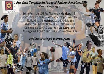 Cartaz Fase Final Campeonato Nacional de Juniores Femininos – Maia