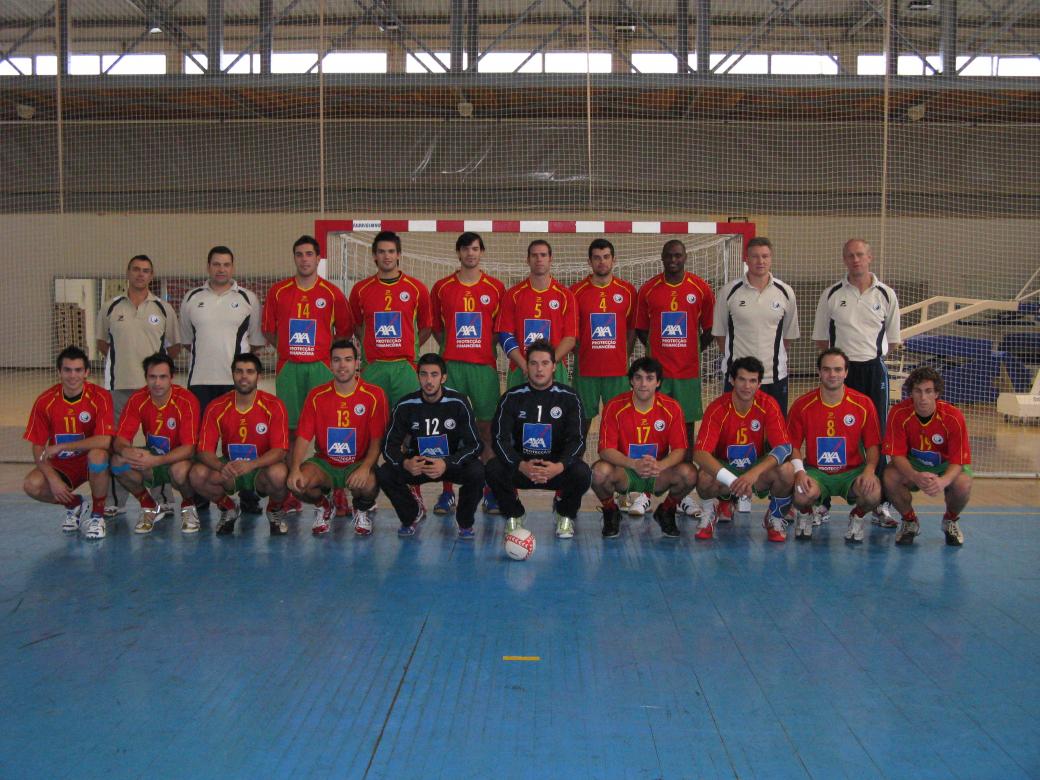 Selecção A masculina e equipa técnica 2007/08